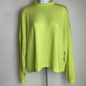 All in Favor Neon Green Rayon Sweater